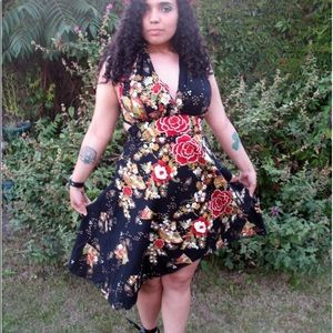 Dresses & Skirts - Floral wrap around dress from Camden Town London